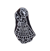 Wooden Soldier Collectible Textile Stamps Indian Brown Decorative Stamp Block