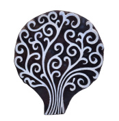 Indian Handcarved Tree Wooden Printing Block Wood Textile Clay Scrapbook Stamp