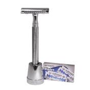 The Klassiker Double Edge Safety Razor by Luxury Barber best wet shaving starter kit gift set for men