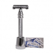 The Nobel Double Edge Safety Razor by Luxury Barber best wet shaving starter kit gift set for men