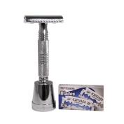 The Hoff Double edge safty razor Razor by Luxury Barber best wet shaving starter kit gift set for men