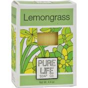 Pure Life Soap Lemongrass and Mint - 130ml - Dairy Free - 100% Organic Nutritive Soap