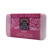 One With Nature Triple Milled Soap Bar - Lilac - 210ml - Dairy Free -