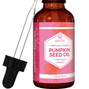 #1 TRUSTED Pumpkin Seed Oil by Leven Rose - 100% Organic, Natural for Hair Growth And Moisturising Dry, Rough Skin - 60ml