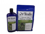 Dr. Teals Complete Eucalyptus Spearmint Bath Soaking Set-includes 1 1420ml Bag of Dr. Teal's Epsom Salt Soaking Solution with Eucalyptus Spearmint and 1 1010ml Bottle of Dr. Teal's Foaming Bath with Eucalyptus Spearmint