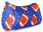 Ever Moda Blue Football Cosmetic Makeup Bag