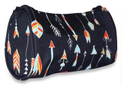 Ever Moda Black Multi Colour Arrows Cosmetic Makeup Bag