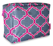 Ever Moda Pink Grey Moroccan Cosmetic Pouch