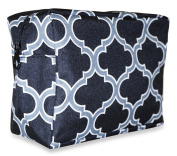 Ever Moda Black Grey Moroccan Cosmetic Pouch