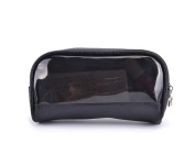 Drasawee Women's Waterproof Transparent Travel Makeup Bag Toiletry Cosmetics Bag Black