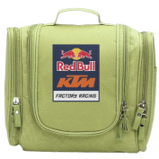 Travel Toiletry Bags Red Bull KTM Factory Racing Washable Bathroom Storage Hanging Cosmetic/Grooming Bag For Household Business Vacation, Multi Compartments, Waterproof Lining