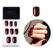 2016 F/W New Dashing Diva Full Cover Gel Nail Tips, Easy to attach without Glue (Square Type, Disposable) MPGS43