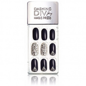 Dashing Diva Magic Press Premium Series #06 Moonlight Stone Full Cover Gel Nail Tips, Easy to attach without Glue