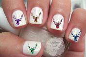 Deer Head Design #4 Nail Art Decals