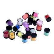 18 Colours Acrylic Nail Art Tips, UV Gel Powder Dust Design Decoration, 3D DIY Decoration Set
