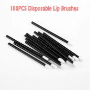 PREFER BEAUTY 100PCS Disposable Lip Brushes Lipstick Gloss Wands Applicator Perfect Makeup Tool Kits