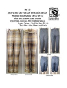1850s - 1910s Men's Mid-Victorian to Edwardian Period Trousers with Knickerbocker Option Pattern