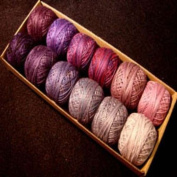 Valdani Perle Cotton Size 12 Embroidery Thread Purple Frenzy Sampler Set