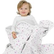 "Woolino Toddler Blanket, Merino Wool, 4 Season Dream Blanket, 52.5"" x 40"", Lilac Stars"