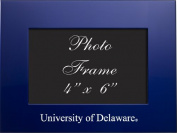 University of Delaware - 4x6 Brushed Metal Picture Frame - Blue