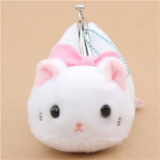 Soft cute white cat plush Tsuchineko purse wallet from Japan
