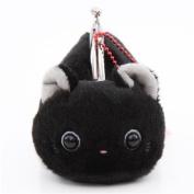 Soft cute black cat plush Tsuchineko purse wallet from Japan