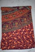 Reddish Kaleidoscopic Wall Hanging Block Print Floral Indian Tapestry