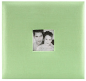 MBI by MCS Fashion Fabric 30cm by 30cm Page Top Load Scrapbook with Photo Opening, Pastel Green, 13.2 x 12.5 Overall