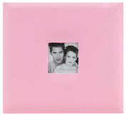 MBI by MCS Fashion Fabric 30cm by 30cm Page Top Load Scrapbook with Photo Opening, Pink, 13.2 x 12.5 Overall