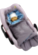 ByBoom® - Swaddling Wrap, Car Seat and Pram Blanket for Spring, Summer and Autumn/Fall, Universal for infant and child car seats eg; Maxi-Cosi, Britax, for a pushchair/stroller, buggy or baby bed, Colour:Dark Grey/Aqua