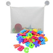 SevenMye 36 pcs Alphabet Baby Bath Toy Foam Letters Numbers with 37CM Bath Toy Storage Organiser Bag