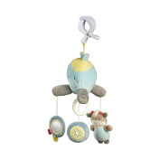 Solini Octopus & Cow Mini Musical Baby Mobile, Light Blue
