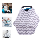 Multi-Use Organic Cotton Nursing Breastfeeding Cover Baby Car Set Cover Canopy Shopping Cart Cover Swaddle Blanket for Infants Newborns Toddlers Shower Gift (The Classic)