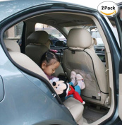 2PC CAR SEAT COVER CAR SEAT COVER PROTECTIVE for Children Botter Mat Mud Clean Auto Car Rear Back Seat Protector Kick Mat Anti Dust Cover for Dust and Kick Kick Protection for Children 45 x 57 cm