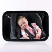 Toypoly Best Quality at Best Price Extra Large View Back Seat Mirror for Baby Safety Mirror for Baby Carriers, Shatter Proof, 360 Degree Rotating Adjustable