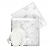 Noukies Cuddly Toy and Blanket Gift Set Jacquard 75 x 100 cm White/Grey/Nougat