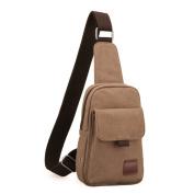 Men chest bag/Korean version of a sports/Casual canvas shoulder bag/Bumbag/Men's bags/Student Messenger bag-D