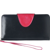 Vicenzo Leather Maine Distressed Leather Clutch