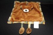 Doudou et Compagnie Puppet Aubert Aubert Creation Flat Square Brown Bear and Legs