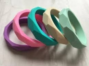 Colourful Montessori Teething Chewable Mummy Bracelet. Free and Fast UK Delivery.