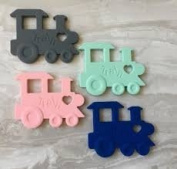 Baby J's BPA Free Silicone Train Teether. Variety of Colours. Free and Fast Delivery
