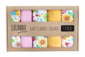 Lulando 5906395189441 Cloth and Blankets in Washable Nappies and Burp Cloths for your baby bees, 70 x 80 cm Set of 5, Eierschalenfarbe