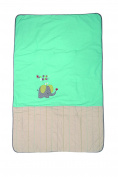 P 'tit Basile Baby Duvet Cover zéléfan Unisex Turquoise Duvet 100% Cotton Can be used for or Play Mat Grey 75x120 cm