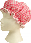 Vagabond Bags Gingham Shower Cap, Pink