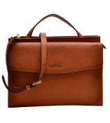 Louvier Agen Leather Samantha Top Handle Bag