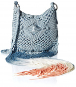 'Ale By Alessandra Women's Arcata Macrame Bag with Dip Dye Fringe