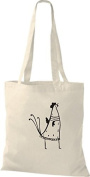 ShirtInStyle Tote bag Cotton bag Funny Animals Chicken Roosters Cock - nature, 38 cm x 42 cm