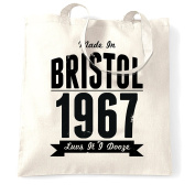 Made in Bristol 1967 Bristol SS Great Britain Queen Square Zoo Blaise Castle Harbour Distressed Shopping Tote Bag Cool Funny Gift Present Bag