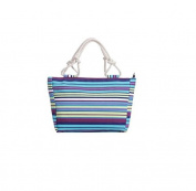 Florence Happy Multi Purple Blue Stripe Rope Tote Bag