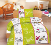 Jimmy 2-Piece Children's Bed Linen Set, Renforcé Cotton, 100 x 135 cm + 40 x 60 cm